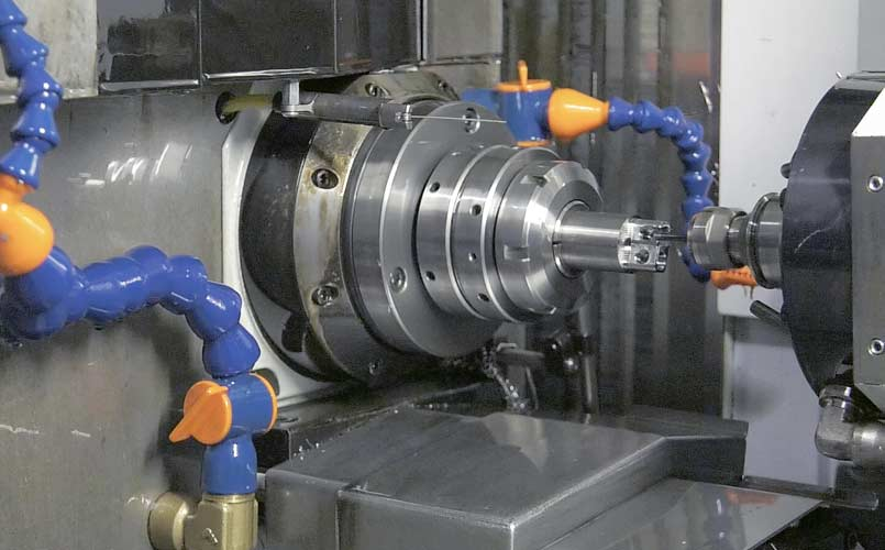 Mill-turn machining robotics parts