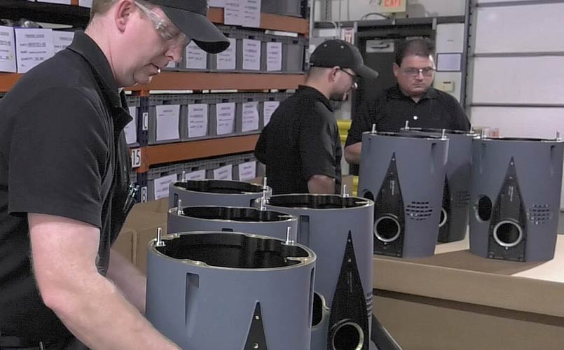 packing and shipping aerospace parts